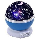 TopOne Baby Light LED Star Night Light 360 Degree Rotating Projection Light Romantic Light Kid Bedroom Lamp Comos Star Night Light Kids Light