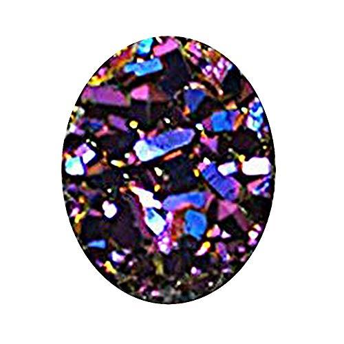 GemMartUSA Loose Gemstone Purple Druzy, Druzy Cabochon,10x8mm Oval Druzy,Cabochon,Druzy Stone,Jewelry Making Supplies (PZ-80018)