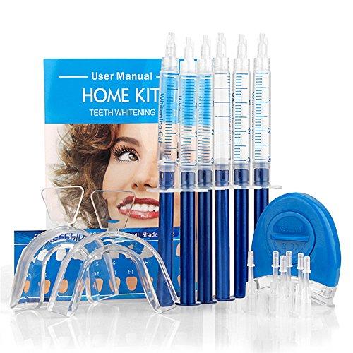 Genkent Teeth Whitening Gel Kit 44% Carbamide Peroxide Thermoform Trays Bonus White Light Professional Dental Equipment