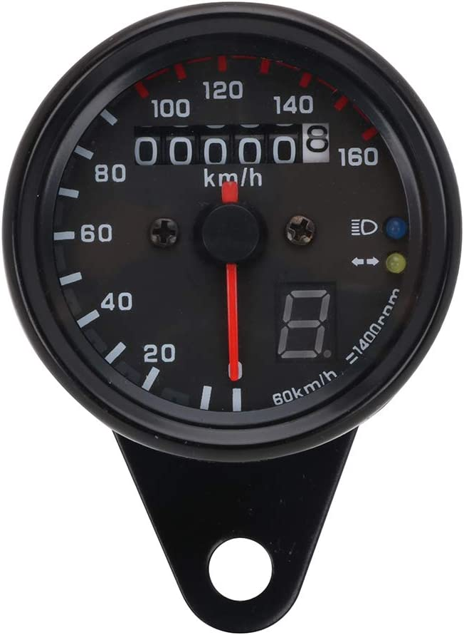 Fastpro Motorcycle Speedometer Universal For Most Motorcycle Models of DC 12V