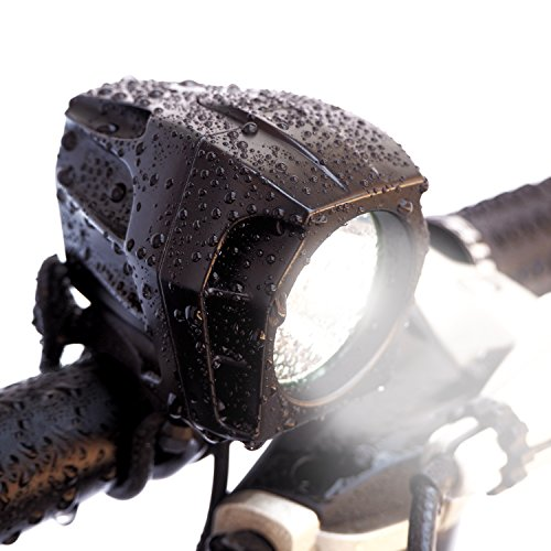 Bright Eyes FULLY WATERPROOF 1600 lumen Rechargeable Mountain, Road Bike Headlight, 6400mAh battery (NOW 5+ HOURS on Bright Beam). Comes w/ FREE DIFFUSER LENS and FREE (Bike Headlamp)