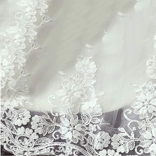 Da Con Maniche Abito Sposa Chiffon Senza Lunghe Tulle White Sera White In Dimensione Xl color wRBqd4Xd