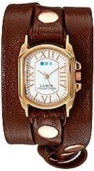 La Mer Collections Women's LMCHATEAU1008 Analog Display Japanese Quartz Brown Watch