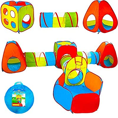 Playz Ball Pit, Play Tent, and Tunnels with 500 Balls Bundle: Toys & Games