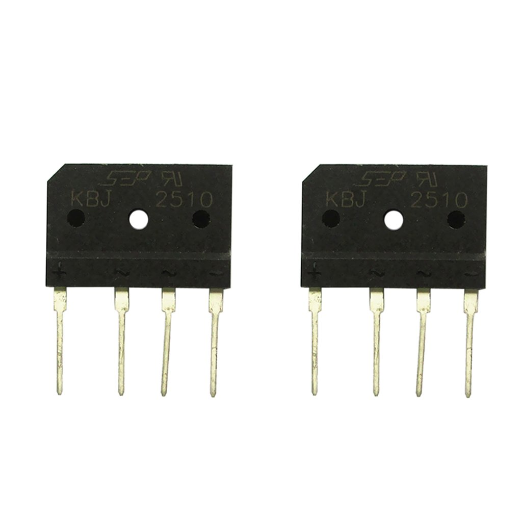 Gazechimp Lot de 2pcs KBJ2510 25A 1000V Pont Redresseur Monophase 4 Pins Rectificateur de Bridge