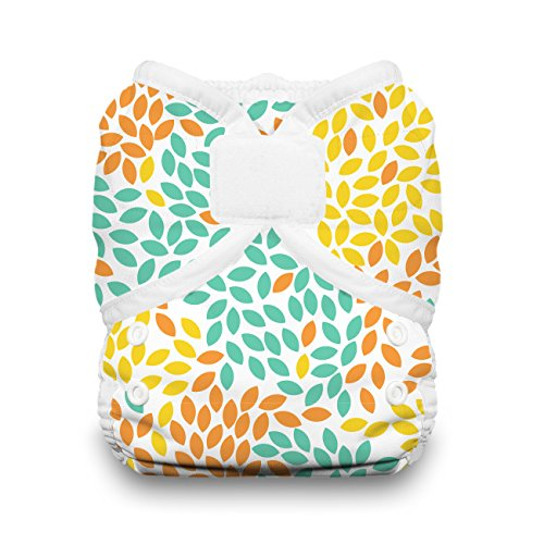 Thirsties Duo Wrap Cloth Diaper Cover, Hook and Loop Closure, Fallen Leaves Size One (6-18 lbs)