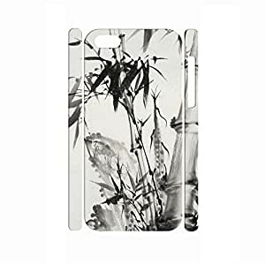 TYHH - Deluxe Handmade Traditional Chinese Painting Style Bamboo Hard Phone Accessories for Iphone 5/5s Case ending phone case