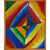 Hand painted oil reproduction of a famous Kandinsky painting, Colour Studies With Technical Explanations. Today it has been carefully recreated detail-by-detail, color-by-color to near perfection. Why settle for a print when you can add sophisticatio...