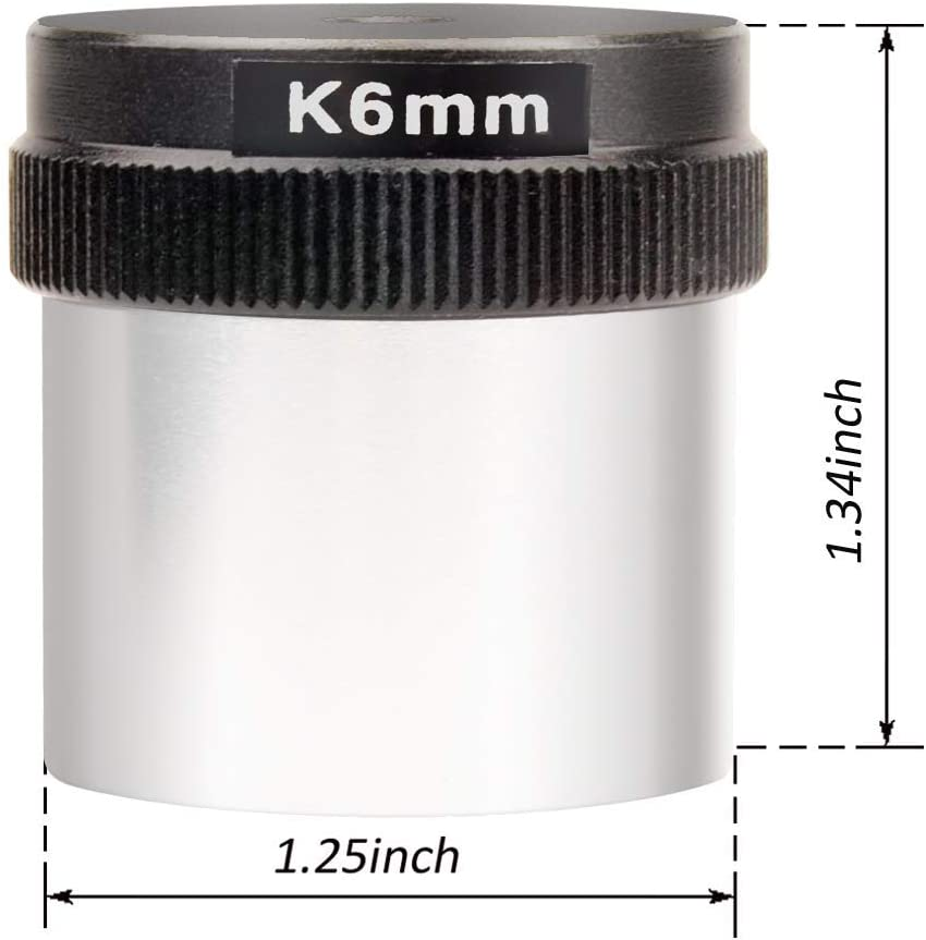 Fully Coated 6mm Kellner Telescope Eyepiece with Long Eye Relief