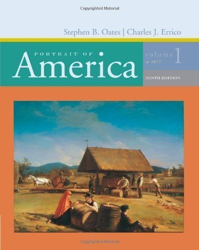 Volume 1: To 1877 9th (ninth) Edition by Oates, Stephen, Errico, Charles J. published by Cengage Learning (2006) ()