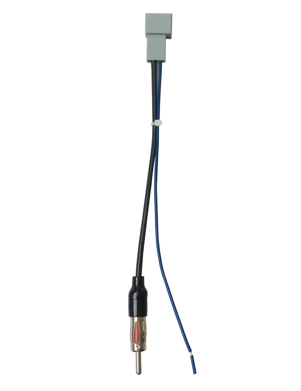 DKMUS Car Radio Antenna Adapter to Aftermarket Radio for Select Honda Acura Mazda