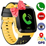 Kids Smart Watch GPS Tracker Phone Watch for Boys Girls with SIM Slot Game Camera Flashlight SOS Anti-lost Alarm Sport Watch Summer Holiday Run Camp Activity Monitor for APP iOS Android