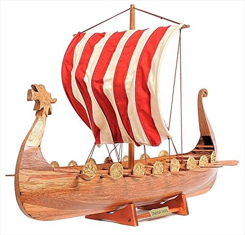 viking ship wood model kit - 9