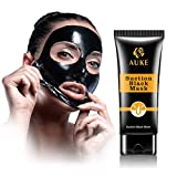 AUKE Blackhead Remover Mask, Blackhead Peel Off Mask, Black Mask, Charcoal Deep Cleaning Facial Mask for Face Nose Acne Pores Treatment 60g
