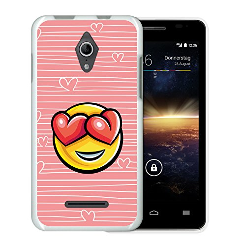 WoowCase Funda Vodafone Smart 4 Turbo, [Vodafone Smart 4 Turbo ] Funda Silicona Gel Flexible Emoticono Emoji Corazónes Amor, Carcasa Case TPU Silicona: ...