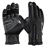 ROCK BROS Winter Cycling Gloves for Men Touch Screen Gloves Fleece Windproof Gloves for Cycling Hiking Running Outdoor Sports