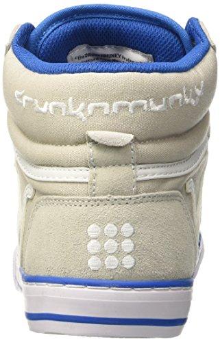 DrunknMunky Boston Classic, Zapatillas de Tenis para Hombre Grigio (Grey/Royal)