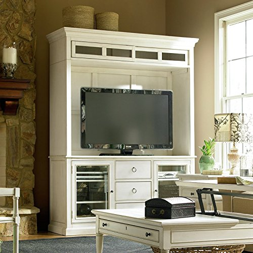 Liquid Pack Solutions Refresh Your Living Room Add This Entertainment Center Made of Hardwood Solid & Maple Veneers in White Color With 3 Drawers and 2 Cabinets (Center Maple 3 Entertainment Piece)
