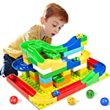 Elover Marble Run STEM Learning Toys Building Blocks Construction Toys Set Puzzle Race Track Kids (73 Pieces)