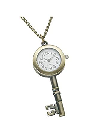 Amazon key pendant necklace key shape clock locket necklace key pendant necklace key shape clock locket necklace aloadofball Image collections