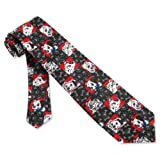 Black Poly Boys Tie | Dalmatian Blocks Boys Necktie
