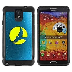 Be-Star único patrón Impacto Shock - Absorción y Anti-Arañazos Funda Carcasa Case Bumper Para SAMSUNG Galaxy Note 3 III / N9000 / N9005 ( Full Moon Dove )