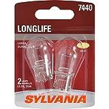 SYLVANIA 7440 Long Life Miniature Bulb, (Contains 2 Bulbs)