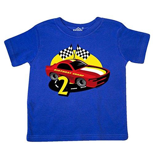 inktastic Race Car 2nd Birthday Toddler T-Shirt 2T Royal Blue