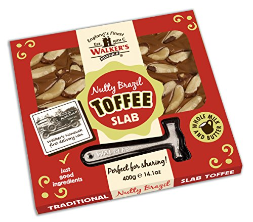(WALKERS NONSUCH Nutty Brazil Toffee Hammer Packs 400 g (Pack of 2))