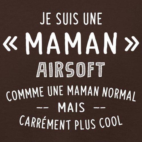 une maman normal airsoft - Femme T-Shirt - Maron Foncé - L