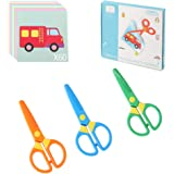 Plastic Safety Scissors, Toddlers Training Scissors, Pre-school Training Scissors and Offices Scissors (3pcs) Kids Paper-Cut