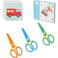 Plastic Safety Scissors, Toddlers Training Scissors, Pre-school Training Scissors and Offices Scissors (3pcs) Kids Paper…