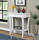Convenience Concepts Newport Console Table, White