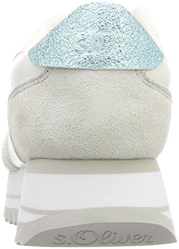 42 Femme Basses s Blanc Sneakers White 23658 Oliver EU 6nnI0xT