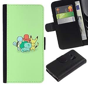 NEECELL GIFT forCITY // Billetera de cuero Caso Cubierta de protección Carcasa / Leather Wallet Case for Samsung Galaxy S3 MINI 8190 // Charactors monstruo lindo poke