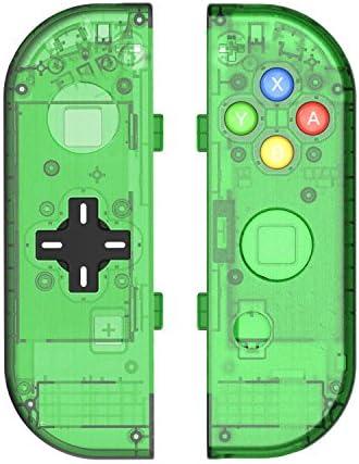 BASSTOP Translucent NS Joycon Handheld Controller...