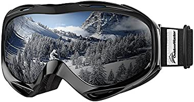 OutdoorMaster OTG Ski Goggles - Over Glasses Ski / Snowboard Goggles for Men, Women & Youth - 100% UV Protection (Black...