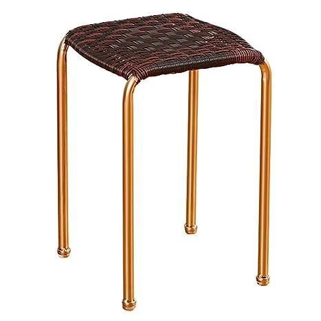 Prime Amazon Com Sup Mang Rattan Stool Chair Metal Household Seat Ibusinesslaw Wood Chair Design Ideas Ibusinesslaworg