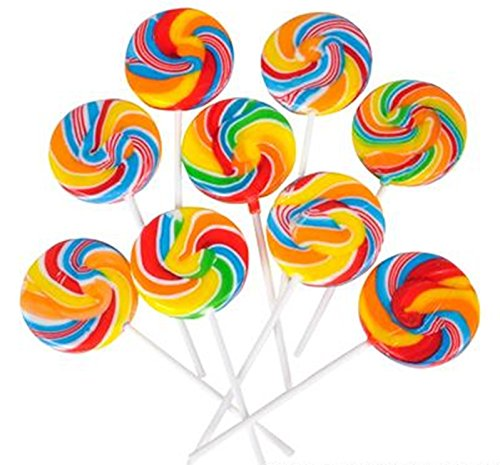 Lolipops Assorted Swirl - Pack of 24