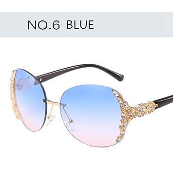 HUWAIYUNDONG Gafas De Sol,Moda Sin Montura De Cristal ...