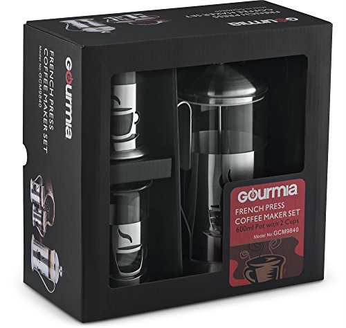 Gourmia GCM9840 French Press Coffee Maker Set Includes 600 ml Decorative French Press Coffee ...