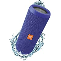 JBL Flip 3 Splashproof Portable Bluetooth Speaker, Blue (Certified Refurbished)