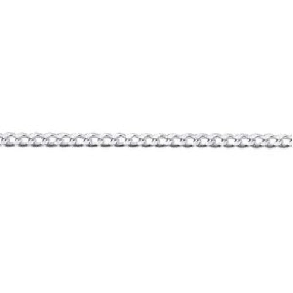 925 Sterling Silver 40 cm Diamond Cut 1 mm Chain Necklace So Chic Jewels