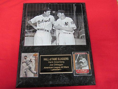 Hank Greenberg Joe DiMaggio 2 Card Collector Plaque w/8x10 1939 Photo