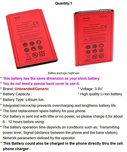 Long Lasting 2400mAh Extended Slim Business Battery for LG X Style L53BL Android phone - USA
