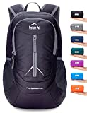 Venture Pal 25L - Durable Packable Lightweight Travel Hiking Backpack Daypack Small Bag for Men Women(Black)
