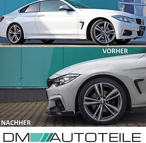 Doppelsteg K/ühlergrill Schwarz passt f/ür F32 F33 F36 M-Paket ABE* DM Autoteile Spoiler