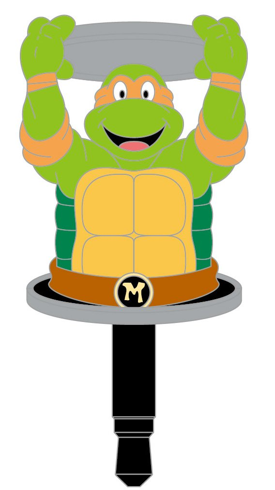 Teenage Mutant Ninja Turtles Earphone Jack Accessory (Michaelangelo)
