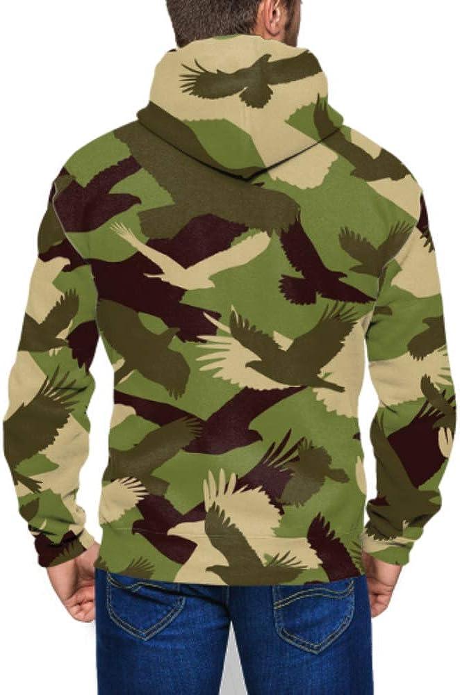 Mens Cardigan Floral Zip Long Sleeves Camouflage Jacket Hooded Tops Outwear Coat
