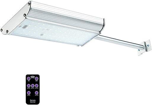 XJHJKR Aplique Solar 70 LED Pared con Mando A Distancia, 5 Modo Luz Solar De Exterior con Sensor De Movimiento, Impermeabilidad para Camino De Entrada, Escaleras: Amazon.es: Deportes y aire libre